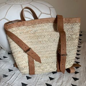 Anthropologie woven backpack